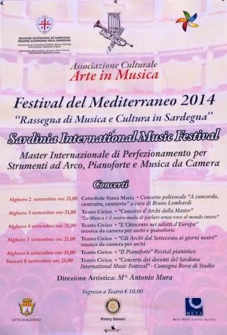 Locandina della prima edizione del Sardinia International Music Festival