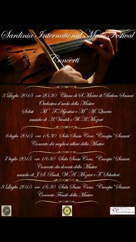 Locandina dell'edizione 2015 del Sardinia International Music Festival